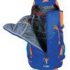 Zaino Y 30 da Alpinismo in Colore Blu Arancio con Apertura Veloce Step 2