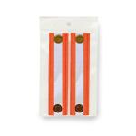 Banda Arancione Riflettente Ad Alta Visibilità Confezione da Due Pezzi