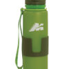 water bottle in platinum silicone 650 ml colour green