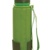 water bottle in platinum silicone with external volume indicator