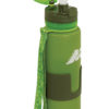 water bottle in platinum silicone closure with cap