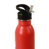 Borraccia Acciaio H2O con Cannuccia e tappo Richiudibile