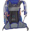 Zaino Y 30 d'Alpinismo di Colore Blu Arancio con Bastino Traspirante Rete freedom air mesh