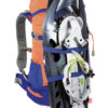 Zaino Y 30 d' Alpinismo di Colore Blu Arancio e Porta Ciaspole Frontale