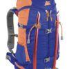 Zaino Y 30 d' Alpinismo di Colore Blu Arancio con Porta Piccozze