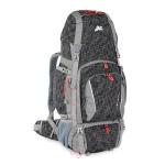 Zaino BIG WAK 80 da Escursionismo Scout e Viaggi Colore Nero Grigio