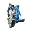 Zaino PRO LEVEL 30 Da Sci Alpinismo Colore Blu Azzurro con Cinghie Frontali Porta Ciaspole